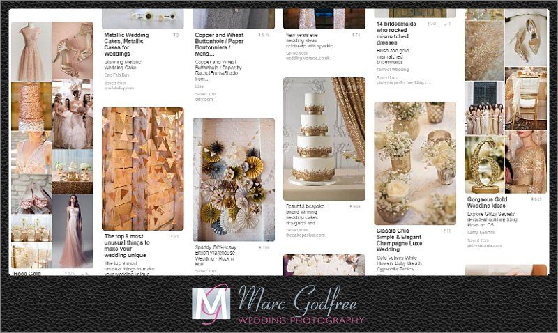 Metalic wedding trends for 2017-1