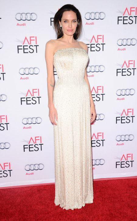 Angelina Jolie Red carpet wedding dress inspiration