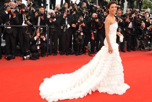 Eva Longoria Red carpet wedding dress inspiration