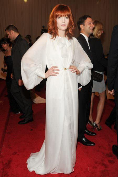 Florence Welch Red carpet wedding dress inspiration