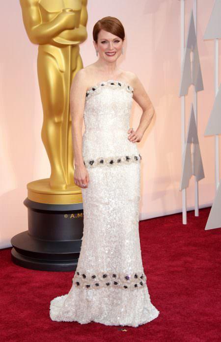 Julianne Moore Red carpet wedding dress inspiration