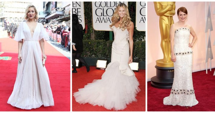 Red carpet wedding dress inspiration