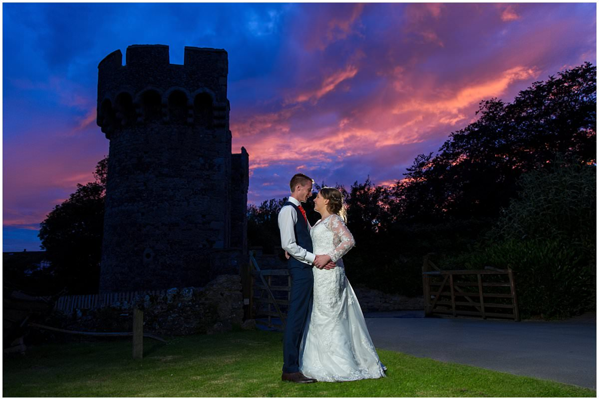 Cooling Castle Barn Sunset Wedding