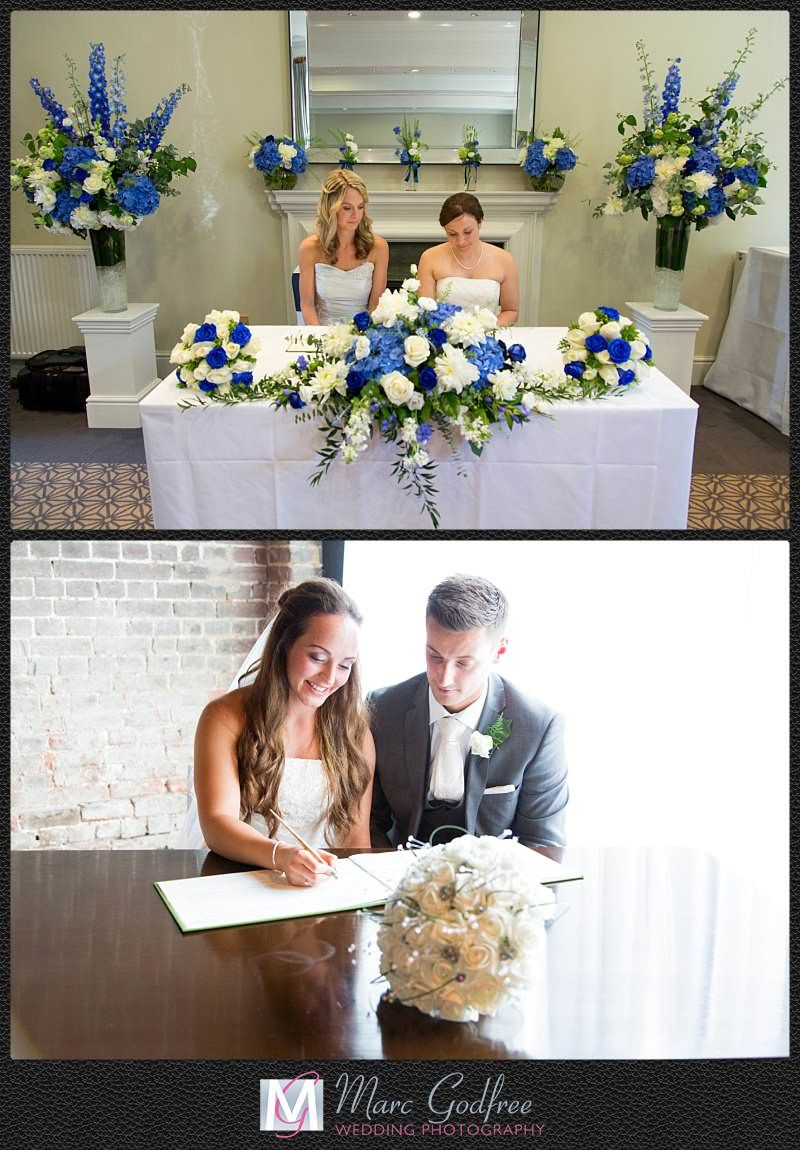 Unmissable wedding day photos- Signing the register